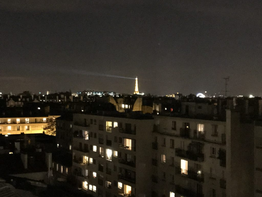 Paris Eiffel Tower view from our apartment