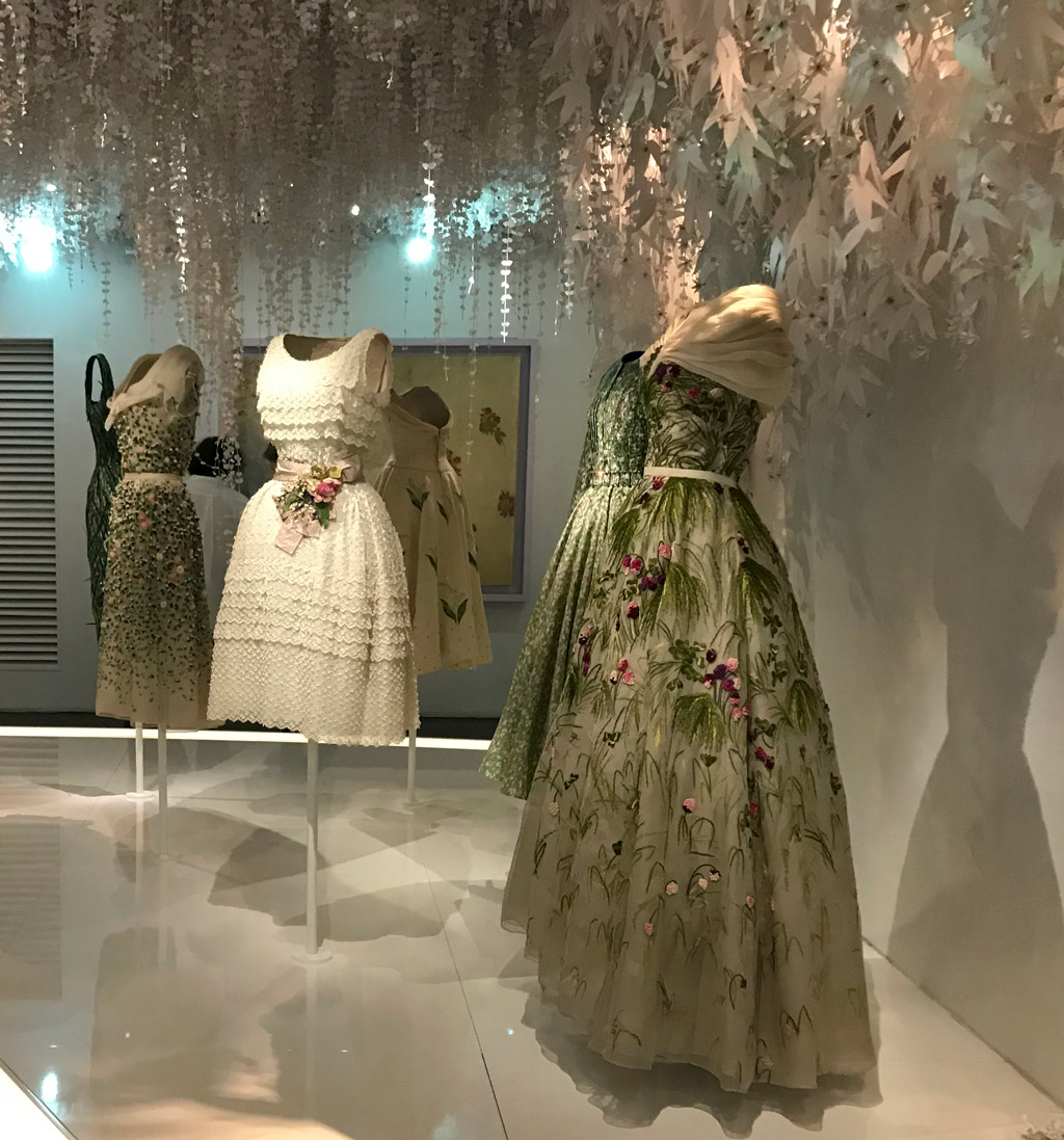 One of the many rooms displaying Christian Dior fashion through the ages, during our 5 days in Paris in winter.