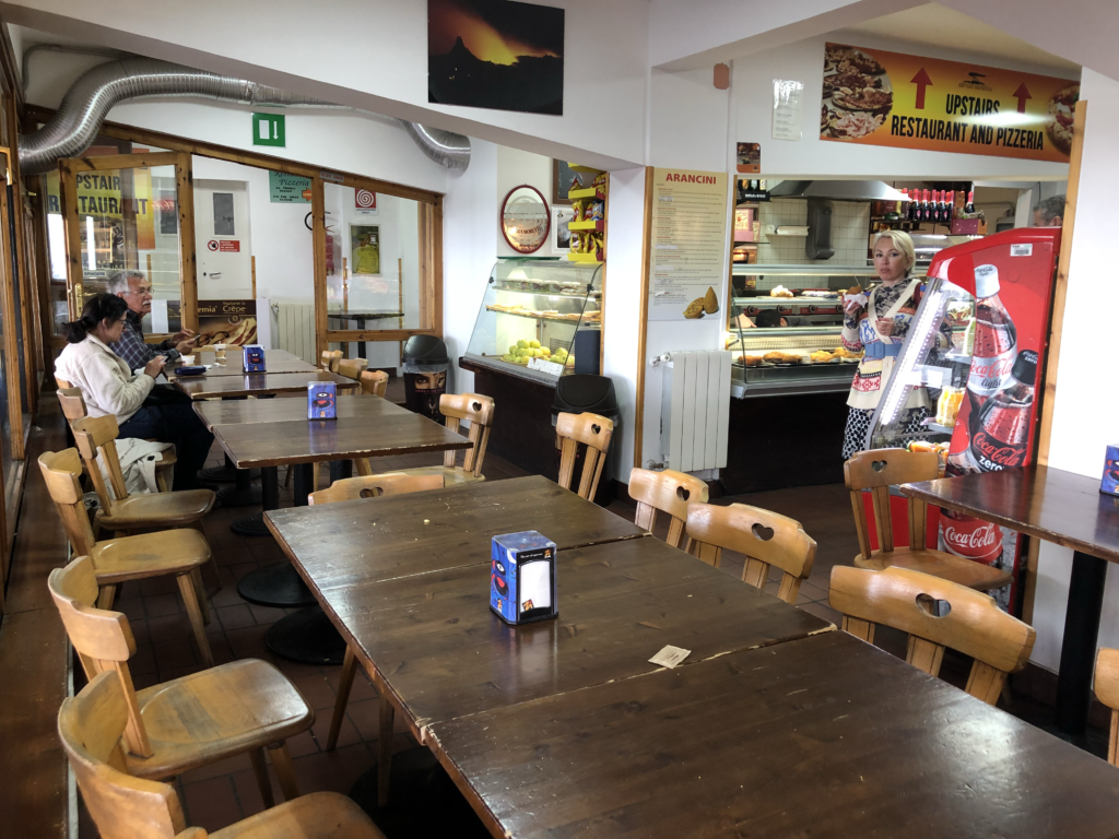 Rifugio Sapienza - a simple cafe in the Mt Etna parking and rest area.