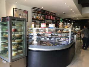 Cake Box is a happening café across from the Mosta dome church in Mosta, Malta. It has a nice selection of cakes, pastries, coffee, tea and other desserts.