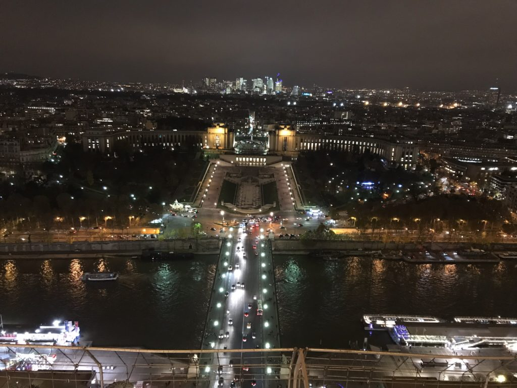 Incredible night-time views from the Eiffel Tower in Paris
