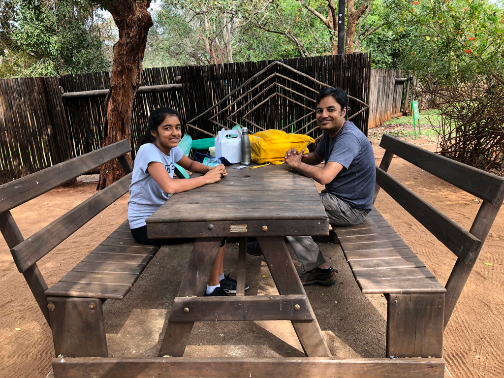 A picnic by Crocodile bridge Camp in Kruger National Park