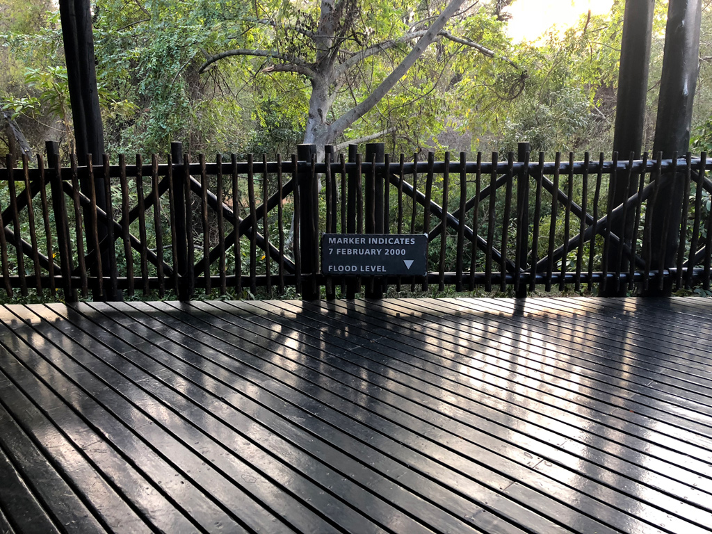 The rooms on the second floor and the numerous walkways make sense after seeing this sign in Protea hotel.