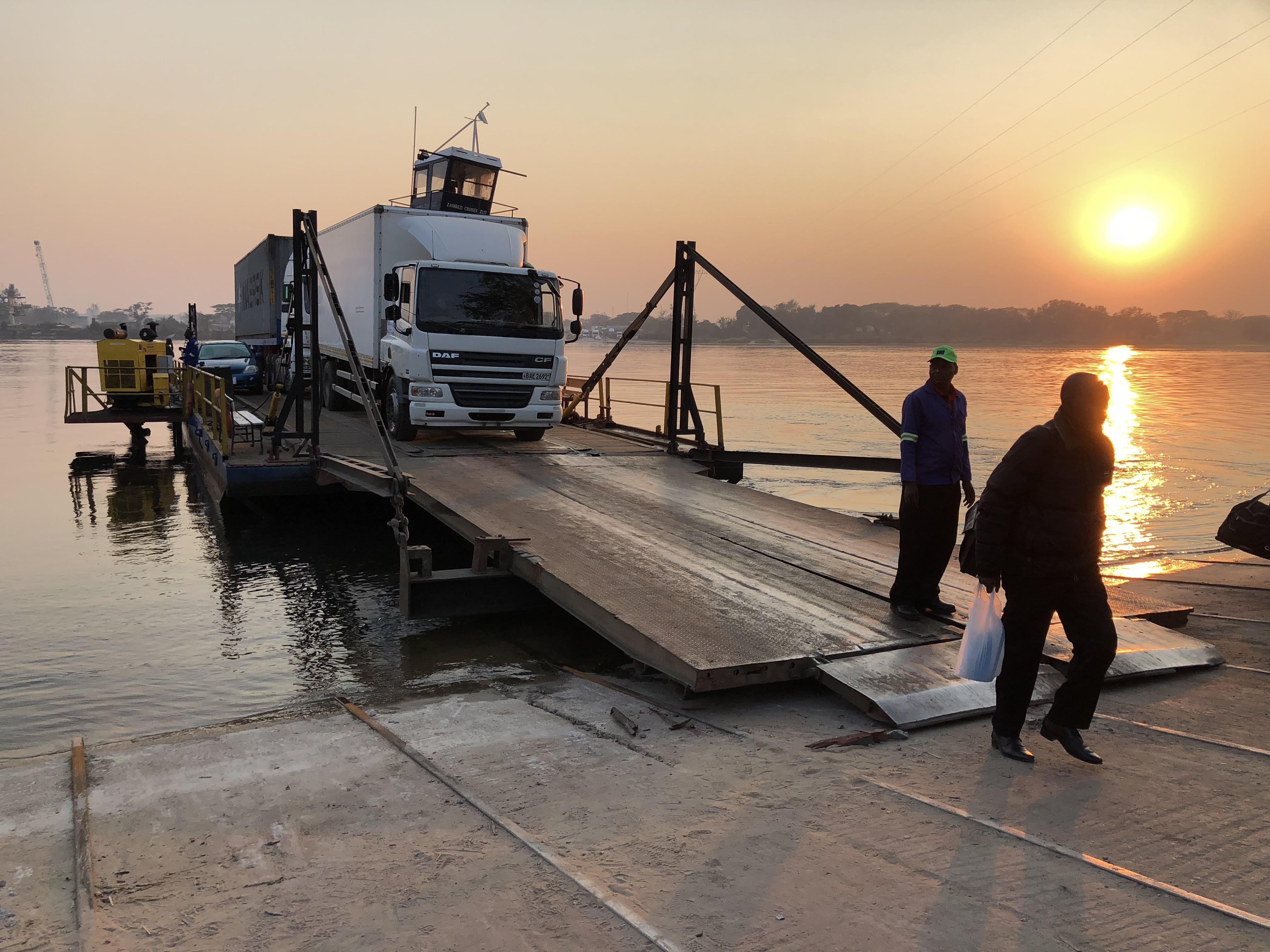 Zambia river crossing