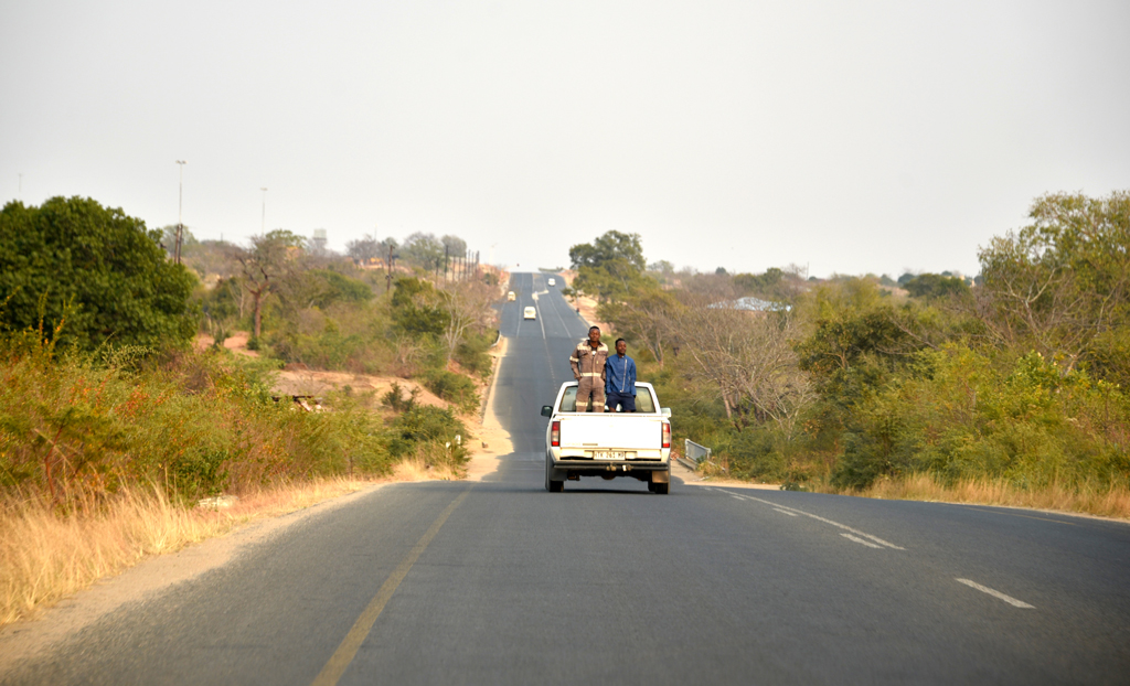 Riding to work in Africa.