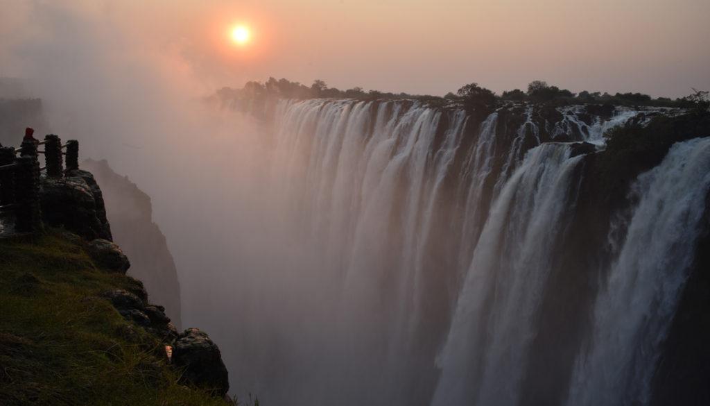 Victoria Falls, world's largest falls. In Livingston, Zambia