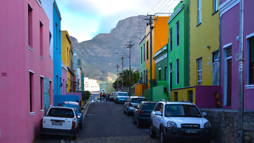 Each house in Bo-Kaap is a different color even though they looks similar on camera.