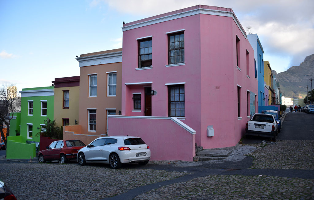 Many of the streets in Bo-Kaap have cobbled stone surface, especially the ones that are on a slope.