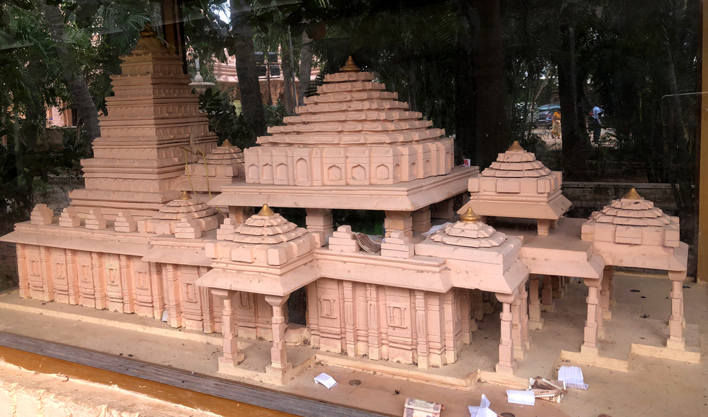 A scaled model of Kulpakji temple, an important Jain tirth near Hyderabad.