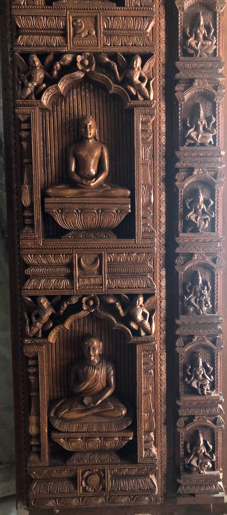 Each door in Kulpakji temple has beautiful carvings.
