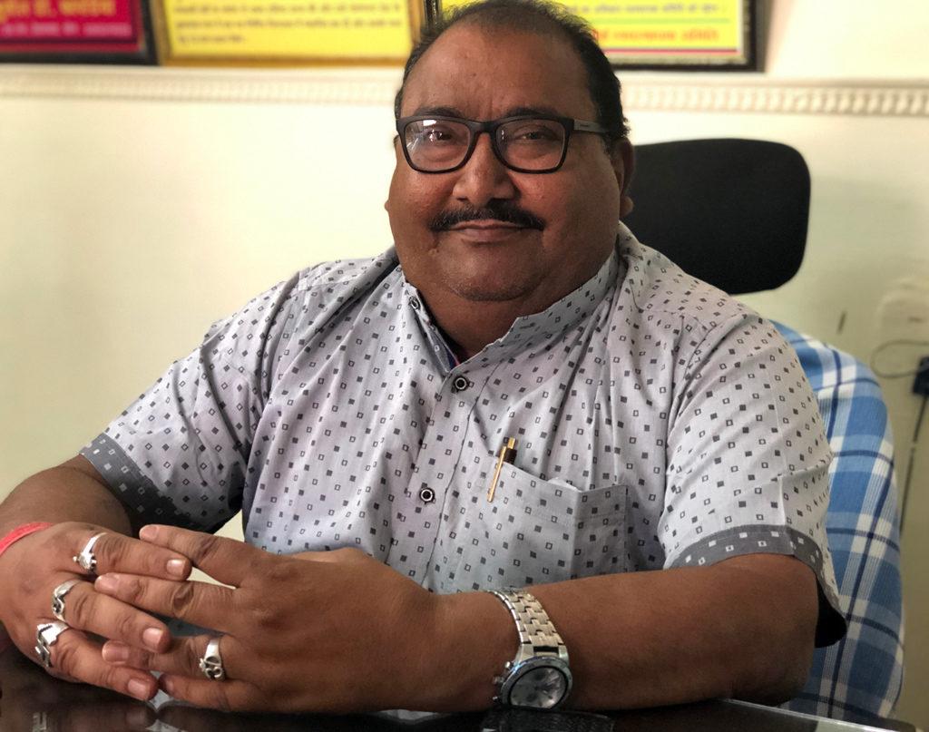 Narendraji Sharma, a very knowledgable general manager of Kulpakji Jain swetambar mandir.