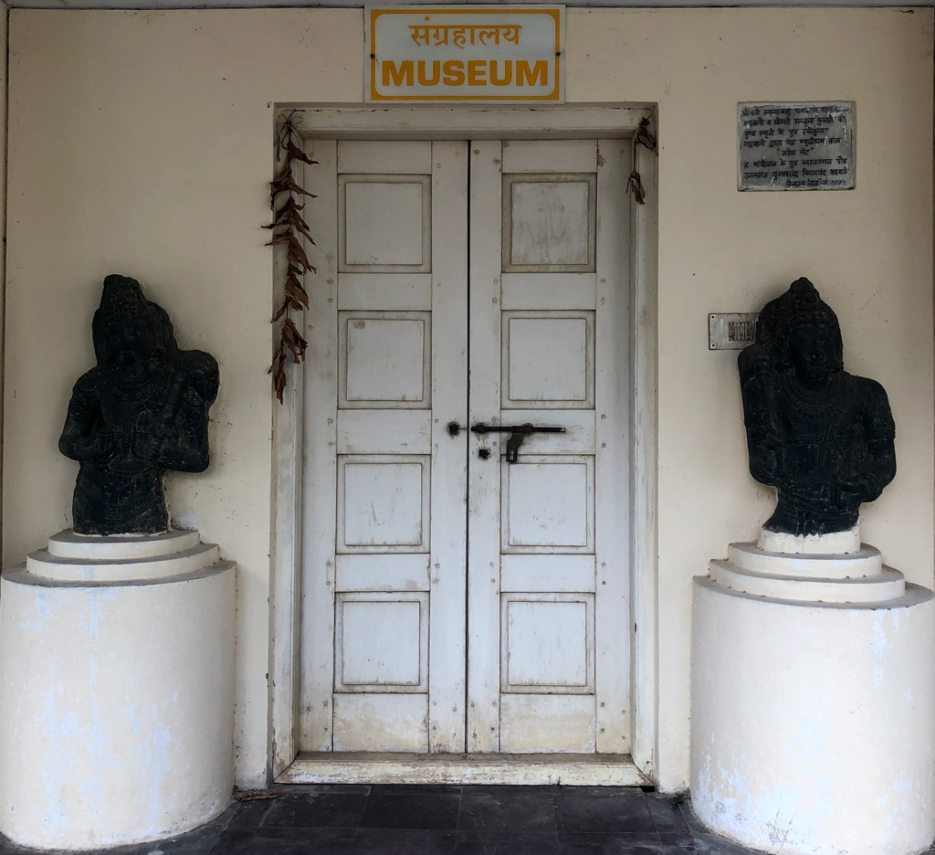 The humble entrance to the Kulpakji museum with it valuable collection of ancient Jain statues.