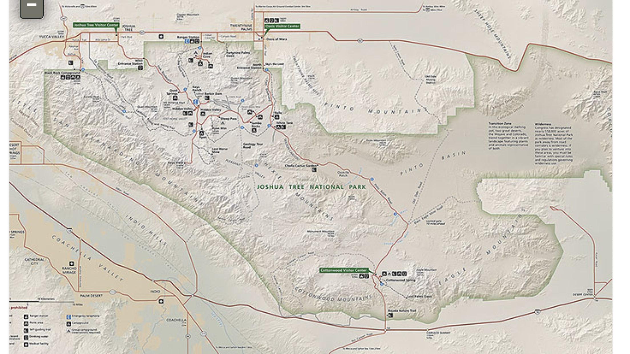 A map of Joshua Tree National Park (credit Park Services)