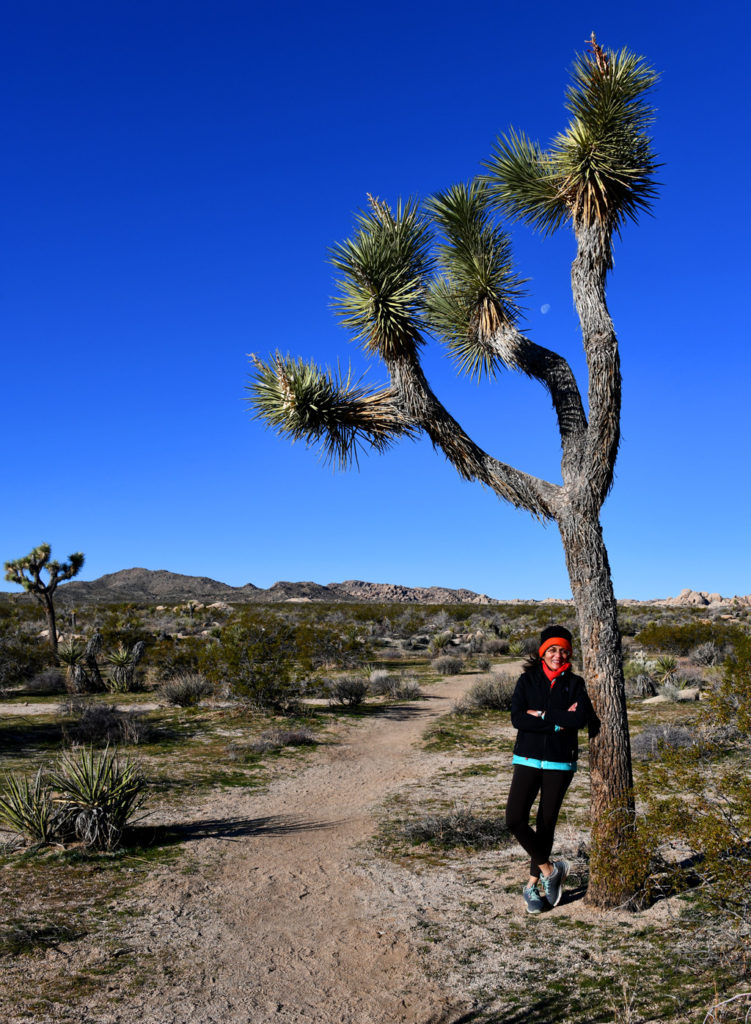 It got very cold and windy on the Arch Rock trail in Joshua Tree NP. Luckily we had layers of jackets, scarf and hat. Gloves would have been awesome.