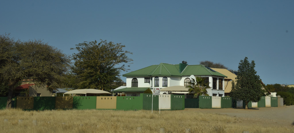 A typical house on the drive through the town of Rehoboth, Namibia