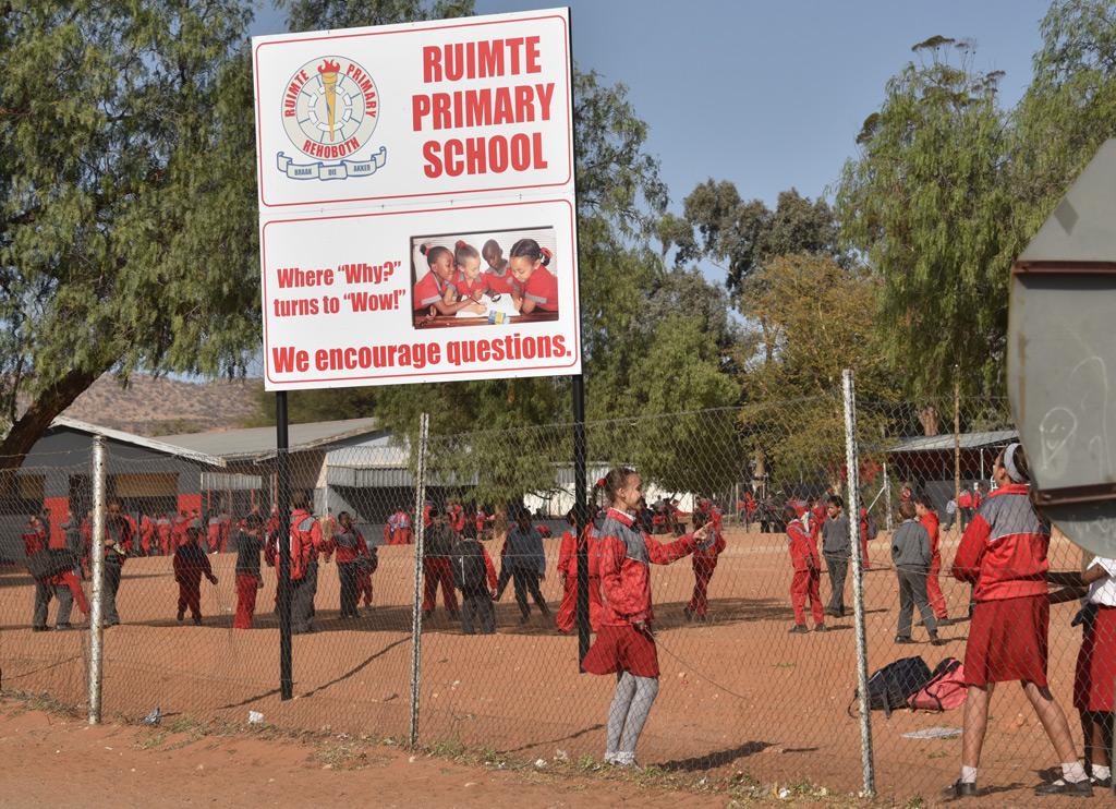 Recess time in Ruimte Primary School in Rehoboth.