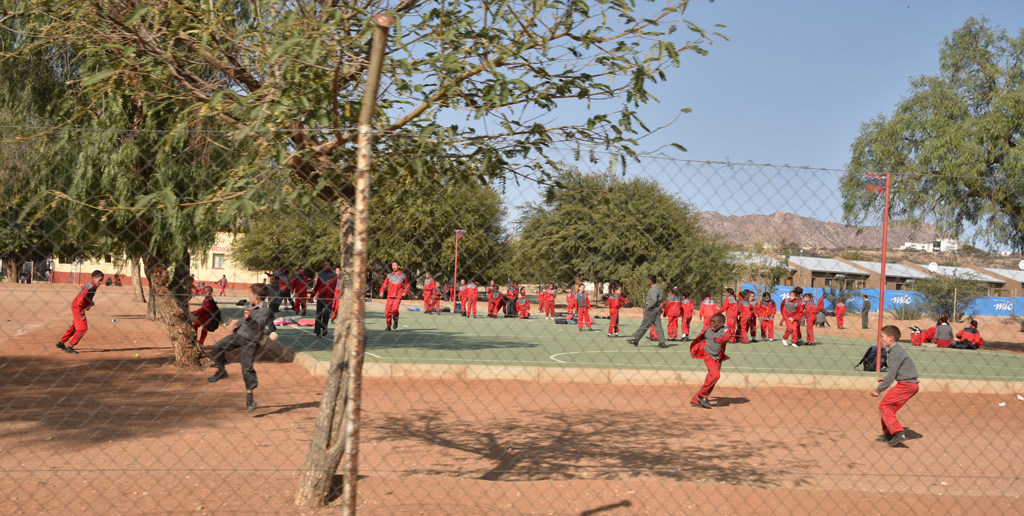 Recess time in Ruimte Primary School in Rehoboth, Namibia.