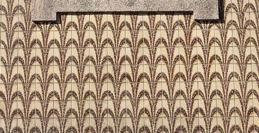 Brown tile design on a Portuguese house