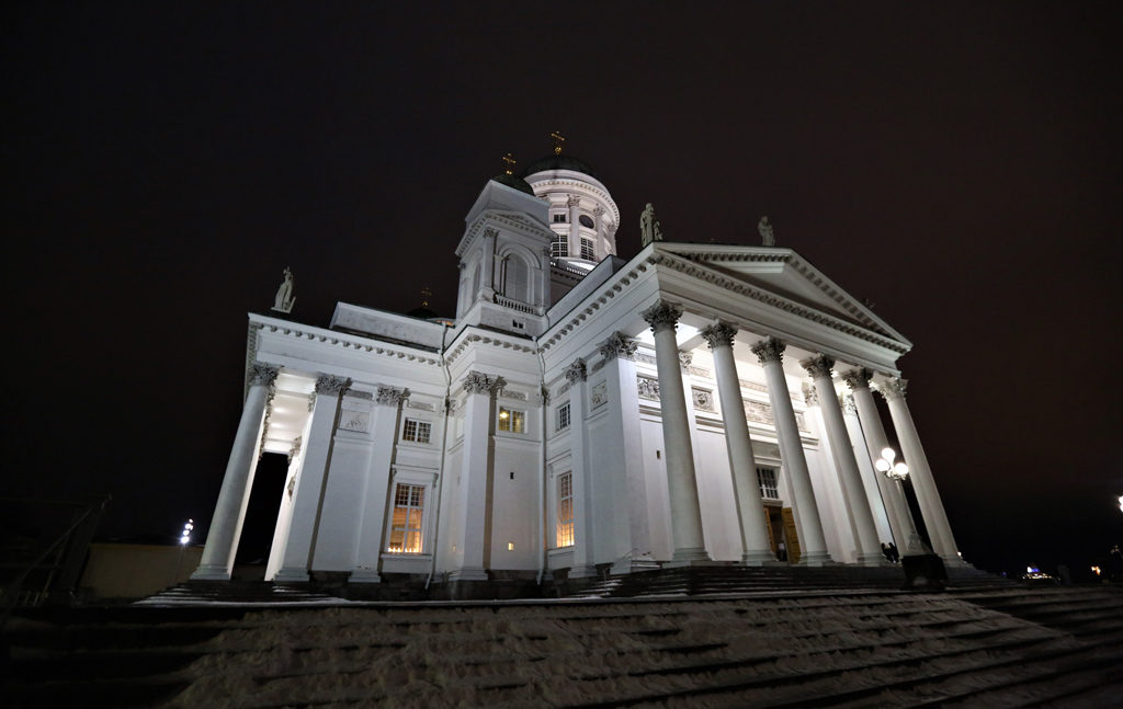 The Helsinki Cathedral, a Finnish Evangelical Lutheran cathedral of the Diocese of Helsinki