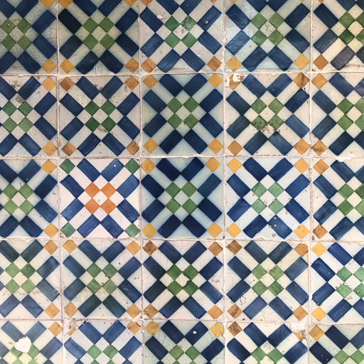 Tiles on the walls of Pastéis de Belém in Lisbon