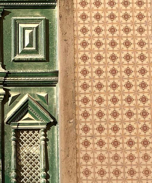Tile design on a Lisbon house