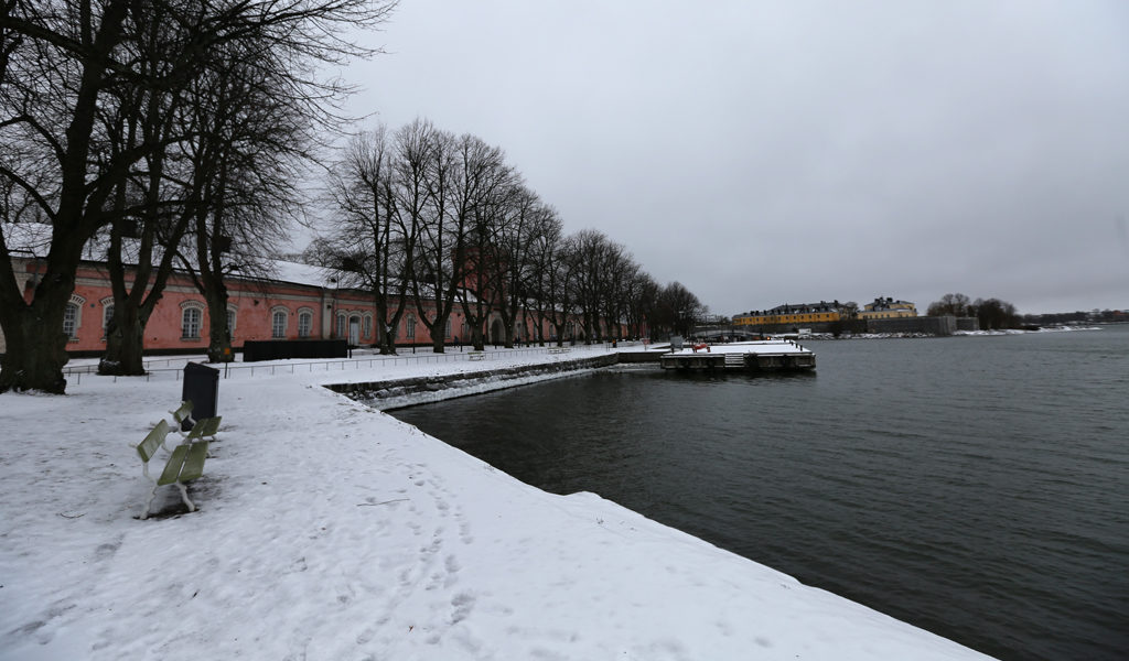 At the dock in Suomenlinna in Finland