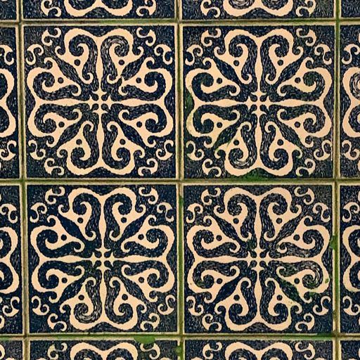 Dark blue with white tiles in Portugal